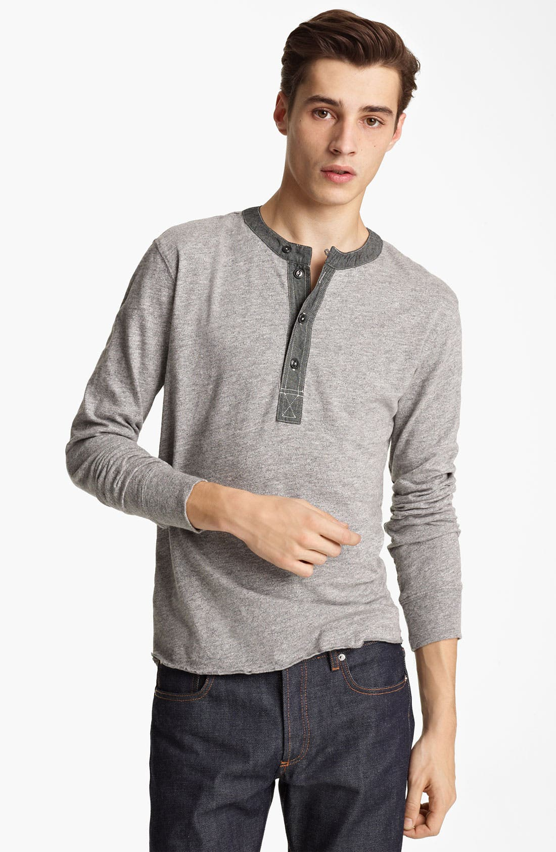 Alternate Image 1 Selected - Grayers Trim Fit Henley T-Shirt