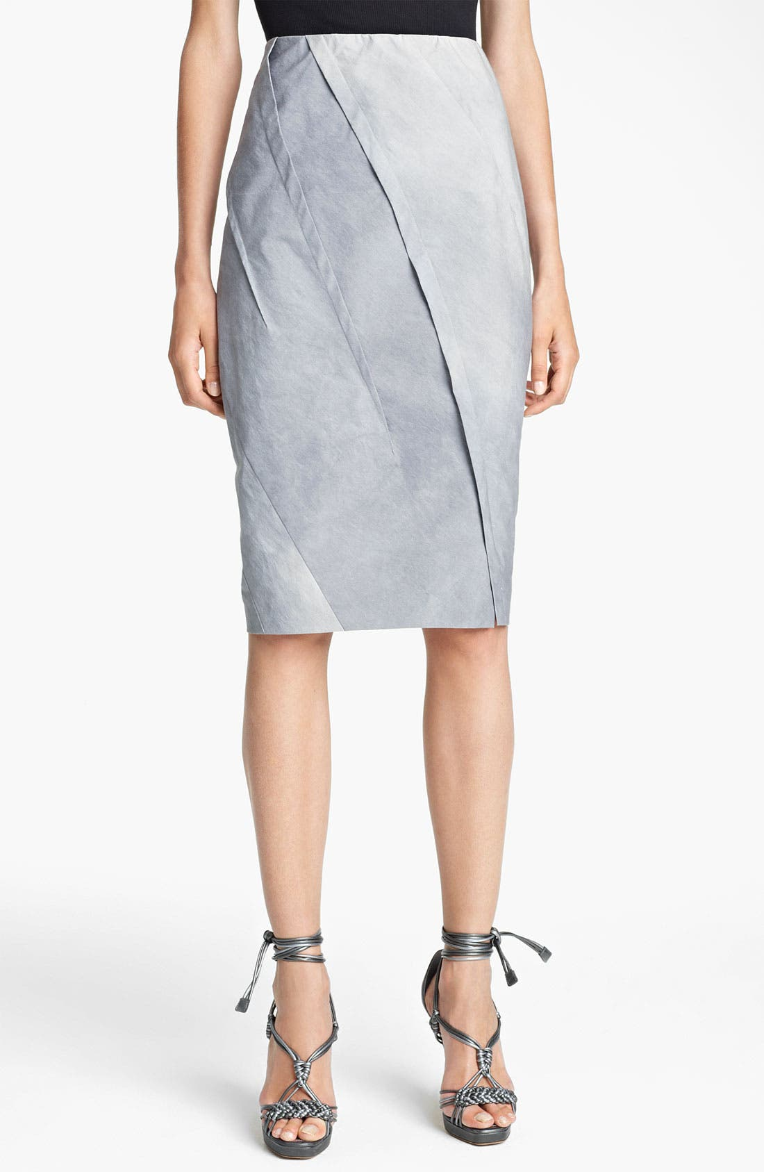 Main Image - Donna Karan Collection 'Mineral Paper' Crushed Skirt