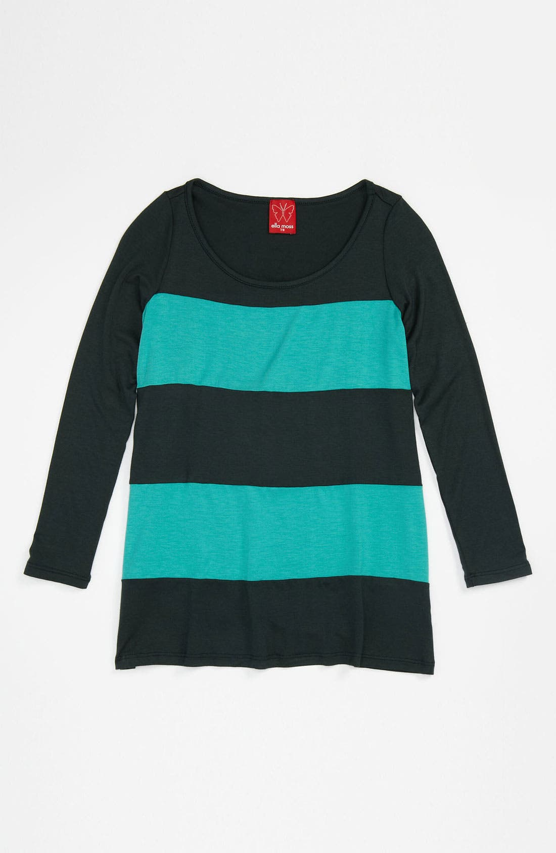 Alternate Image 1 Selected - Ella Moss Stripe Tunic (Big Girls)