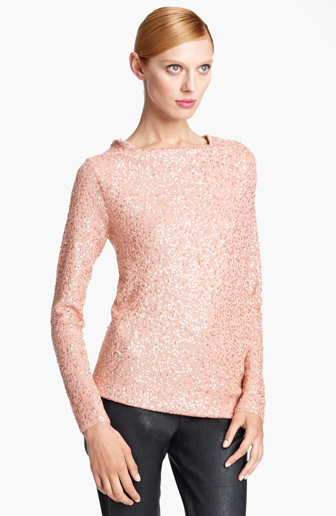 Main Image - Donna Karan Collection Sequin Cashmere & Silk Top