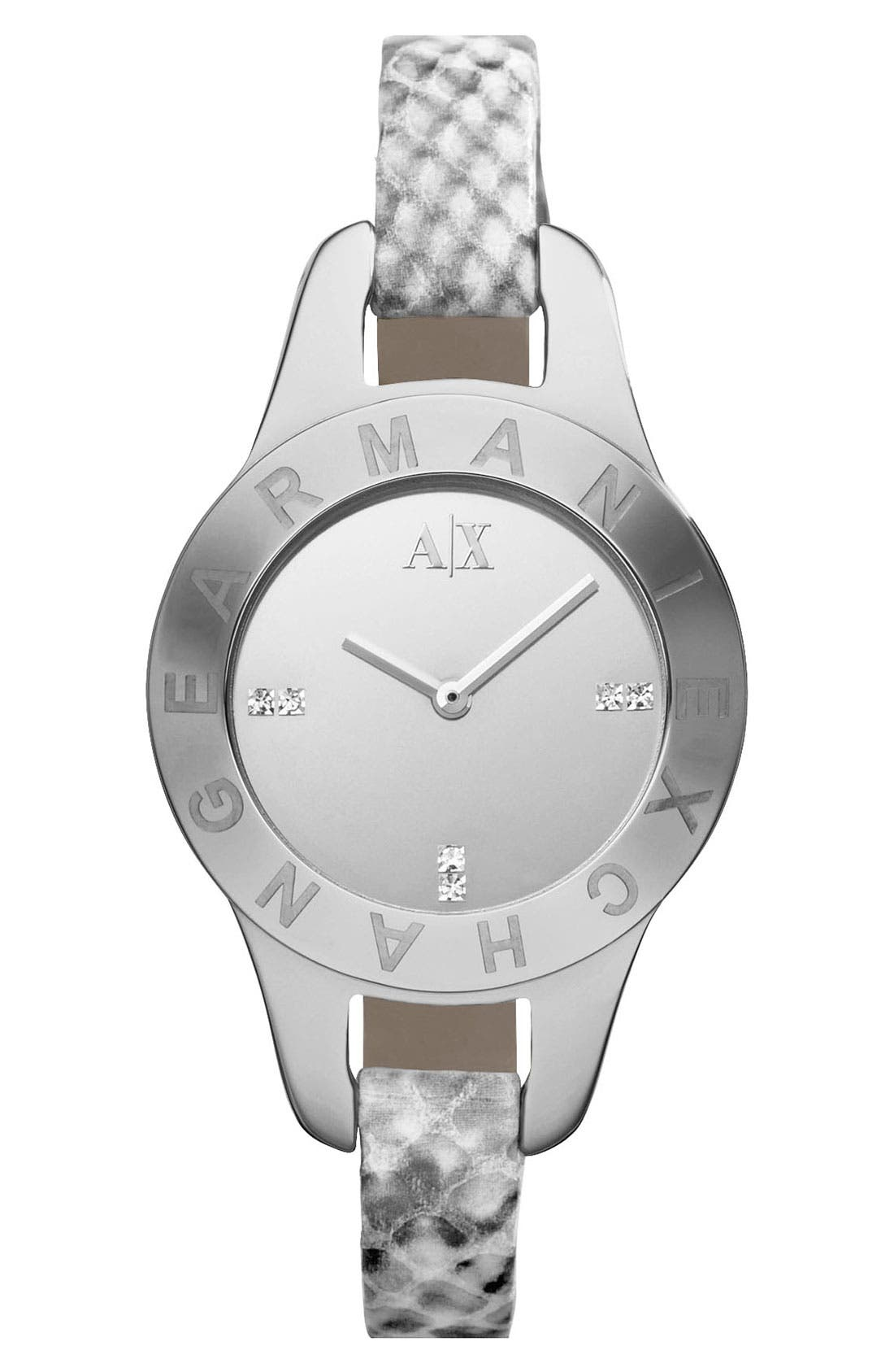 Alternate Image 1 Selected - AX Armani Exchange Mirror Dial Watch, 30mm (Online Only)