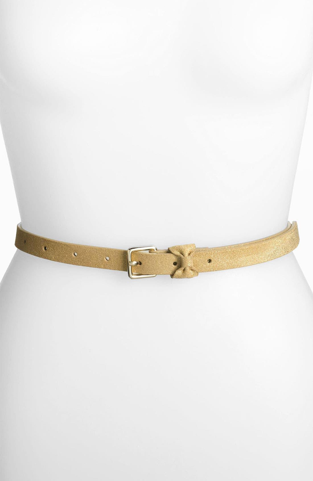 Alternate Image 1 Selected - Halogen® 'Sparkle Bow' Leather Belt