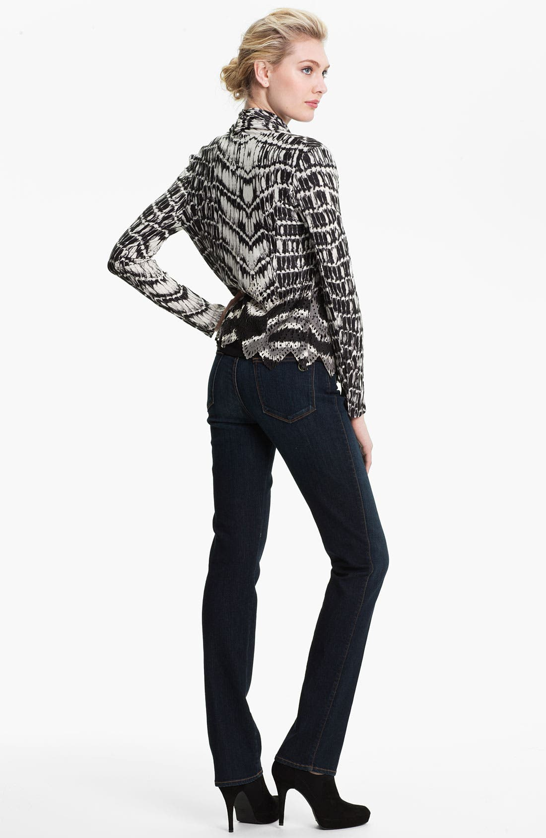 Alternate Image 5  - Alberto Makali Perforated Print Cardigan