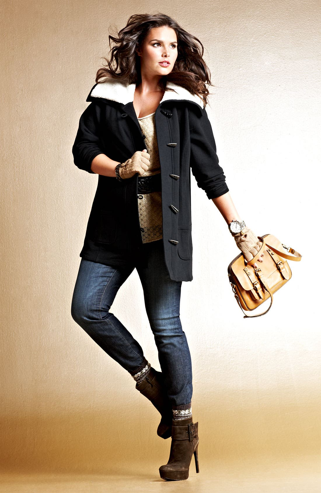 Alternate Image 6  - Sejour Fleece Collar French Terry Jacket (Plus)
