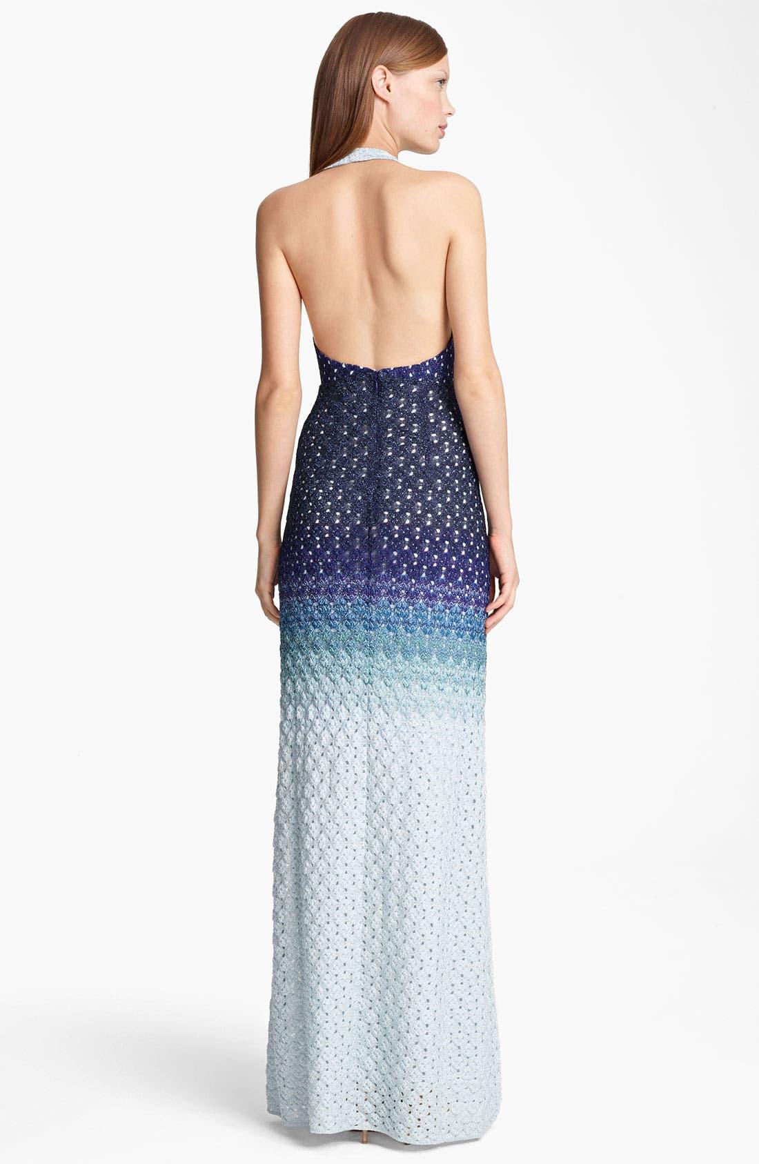 Alternate Image 2  - Missoni Dégradé Halter Gown