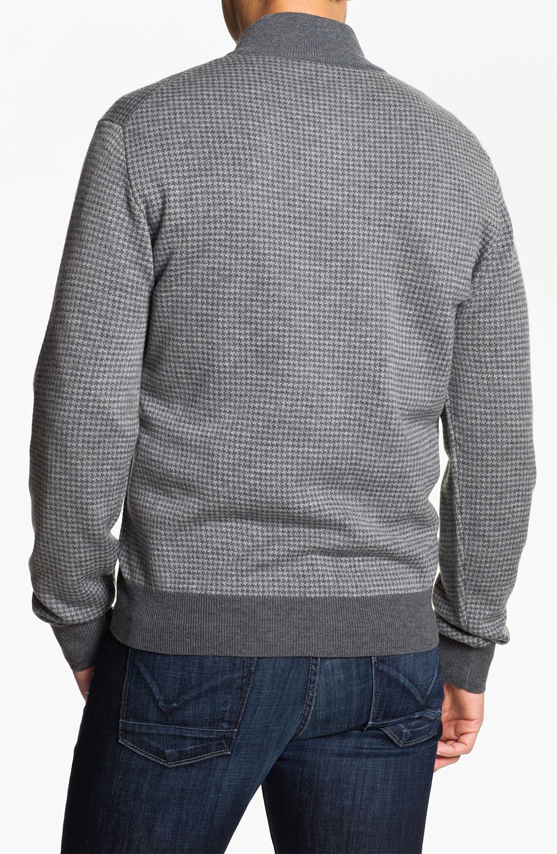 Alternate Image 2  - Toscano Merino Quarter Zip Wool Blend Sweater