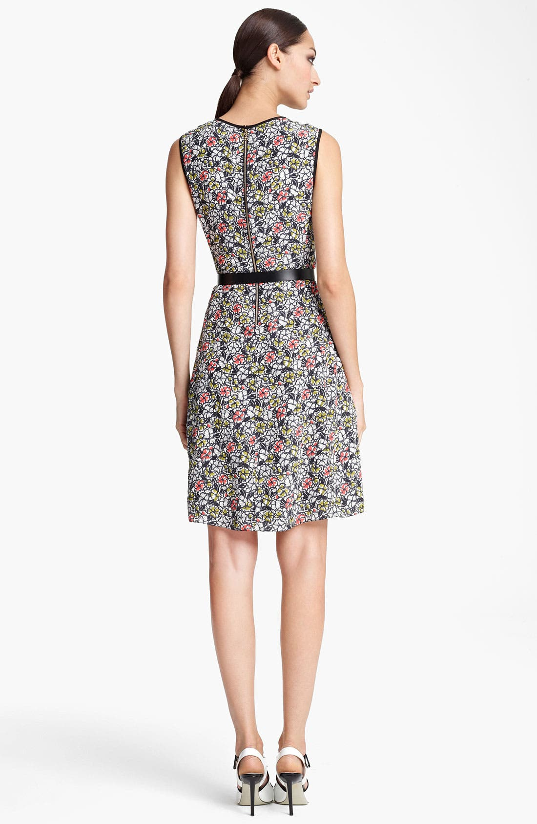 Alternate Image 2  - Jason Wu Belted Print Silk Dress