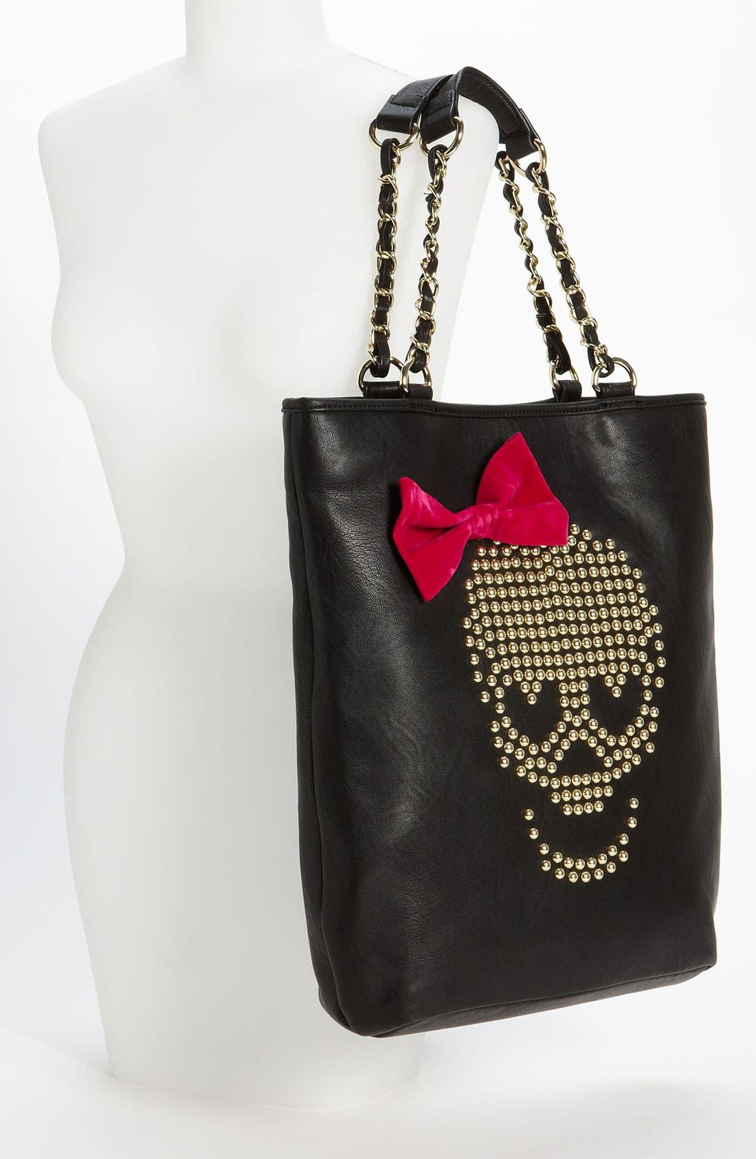 Alternate Image 2  - Betsey Johnson 'Skull Stud' Tote