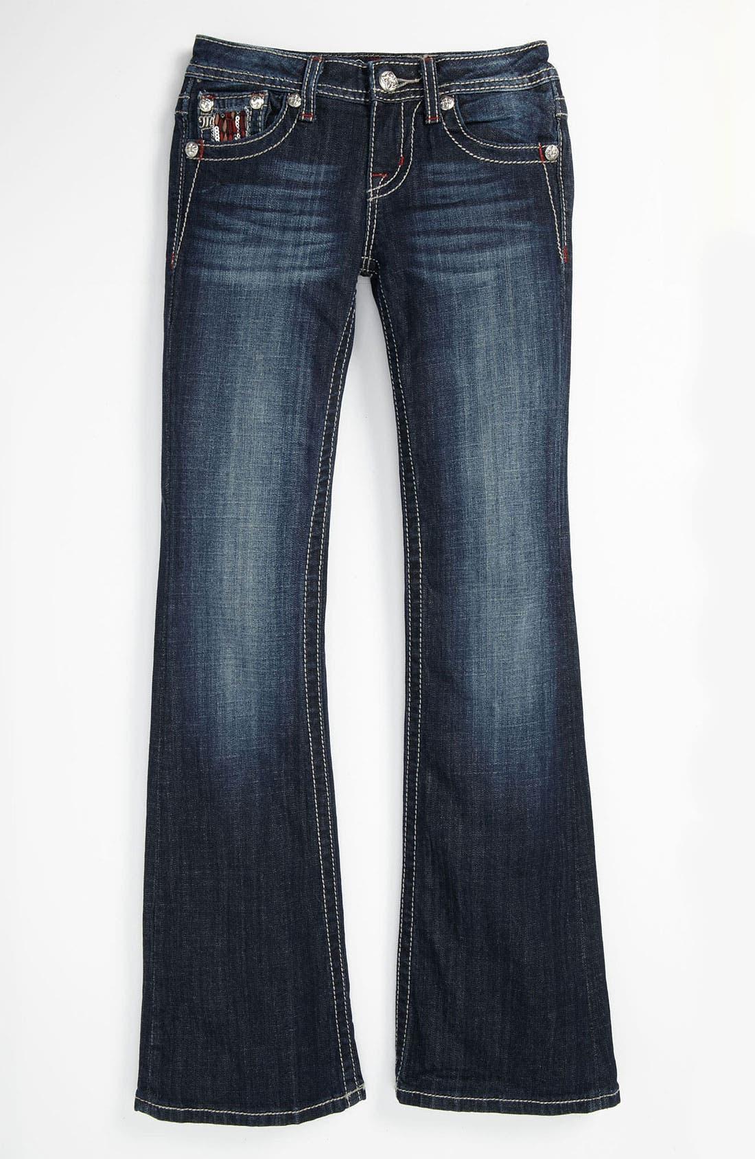 Alternate Image 2  - Miss Me Embellished Bootcut Jeans (Big Girls)