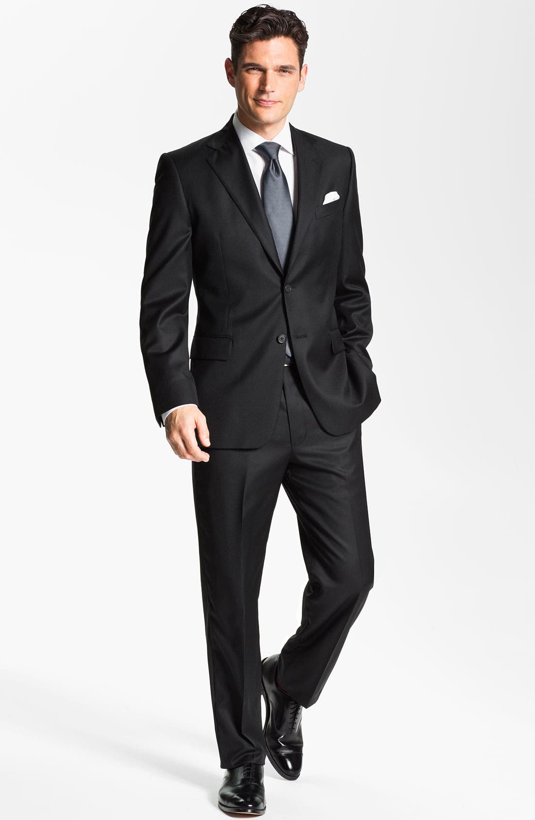 Alternate Image 2  - Joseph Abboud Black Wool Suit