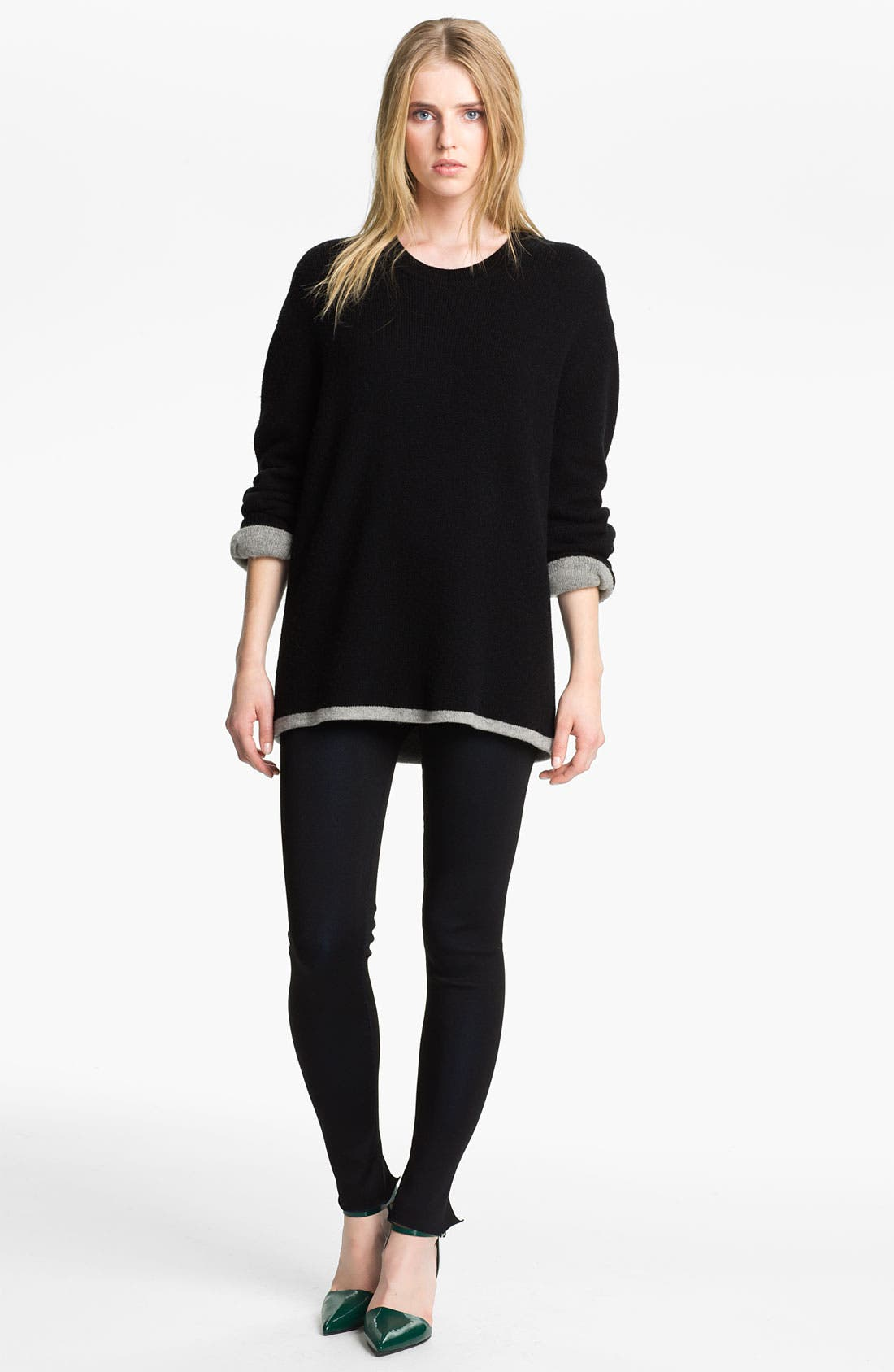 Alternate Image 3  - Alexander Wang Reversible Wool & Cashmere Sweatshirt