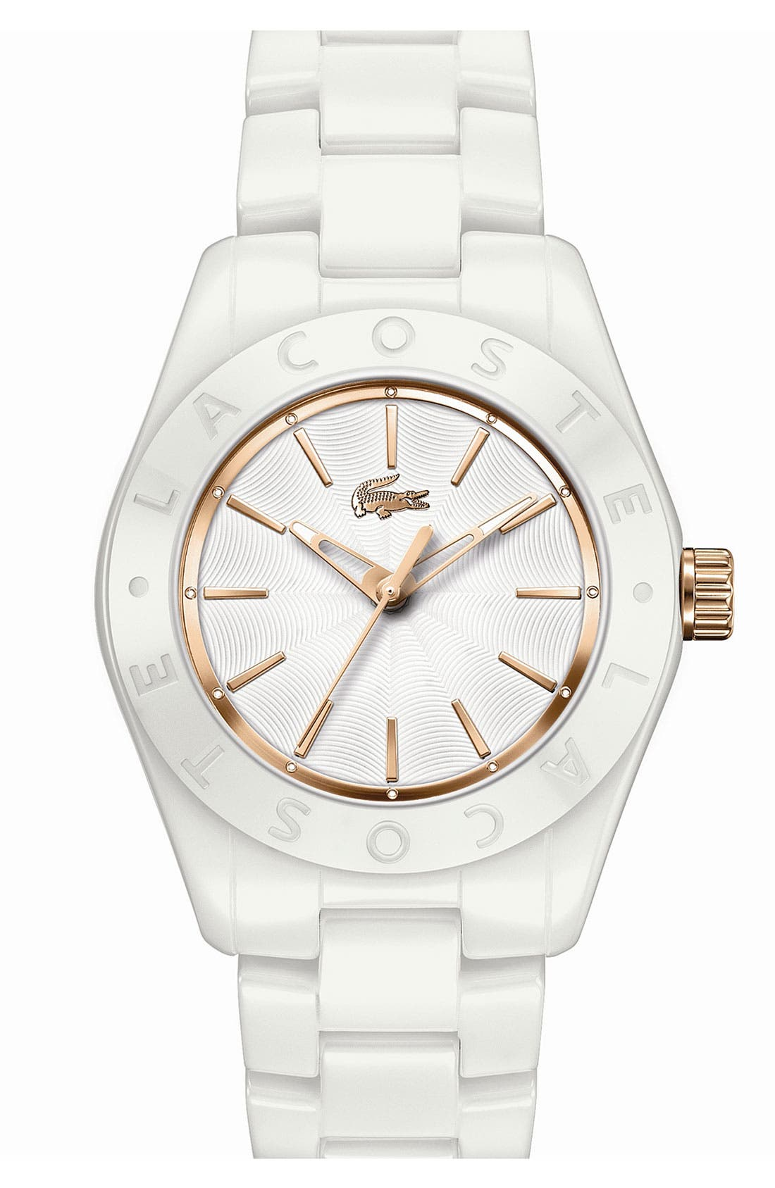 Main Image - Lacoste 'Biarritz' Ceramic Bracelet Watch, 38mm