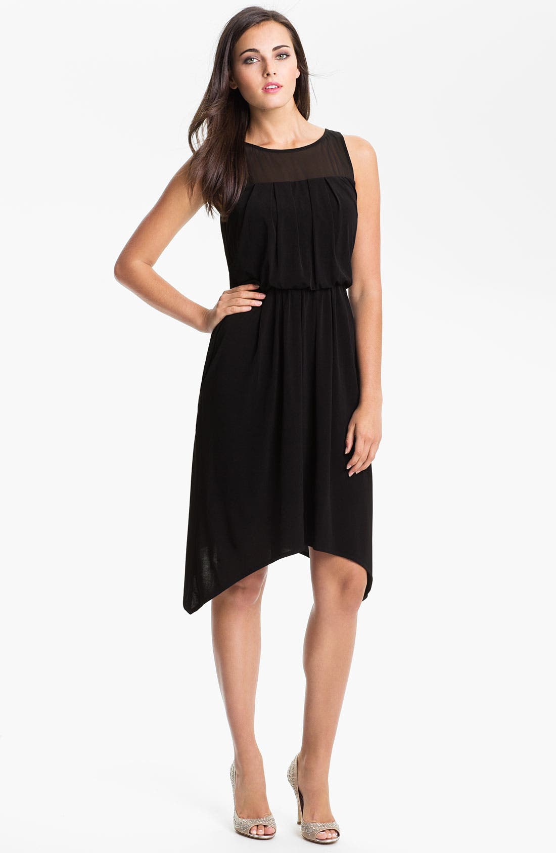 Main Image - Vince Camuto Sheer Back Blouson Dress