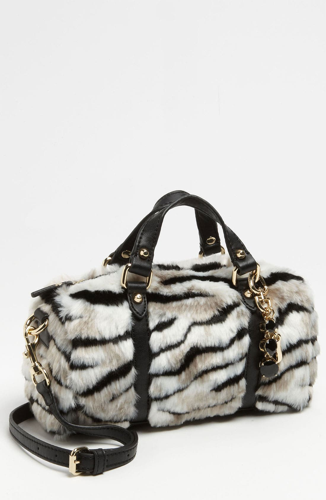 Main Image - Juicy Couture 'Mini Steffy' Faux Fur Satchel (Girls)