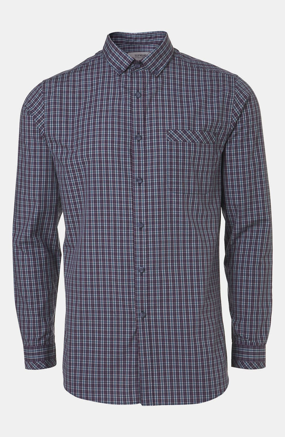 Main Image - Topman Extra Trim Tartan Check Shirt