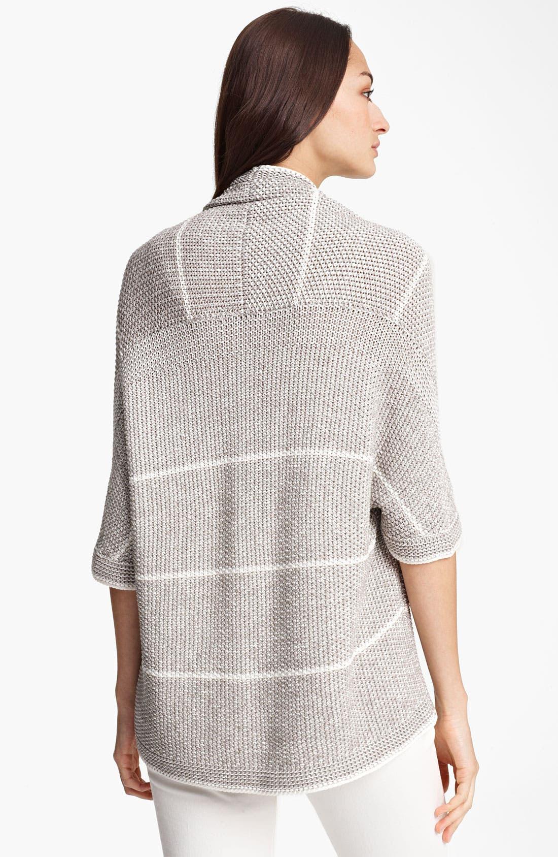 Alternate Image 2  - Fabiana Filippi Stripe Crochet Cardigan