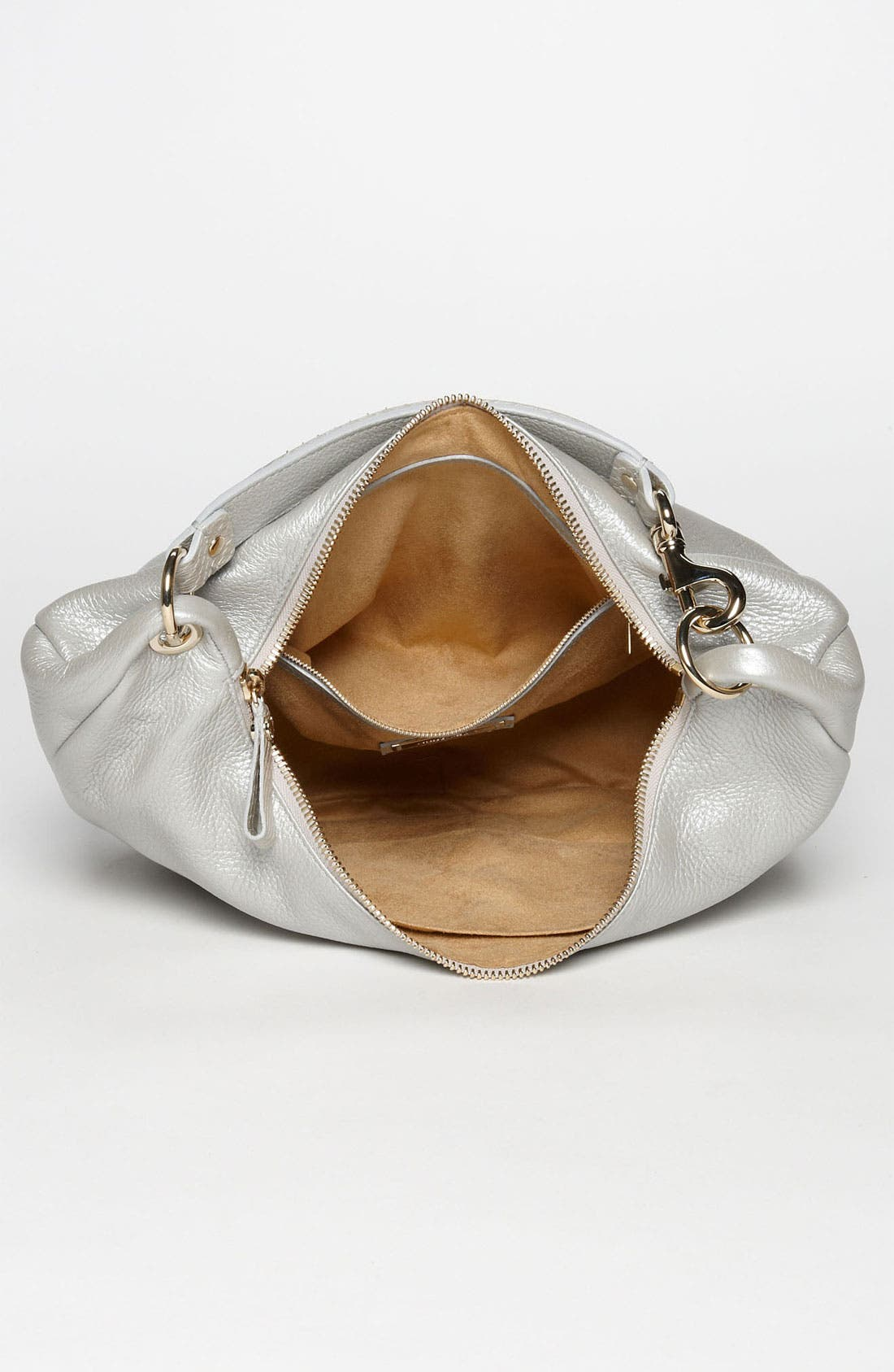 Alternate Image 3  - Jimmy Choo 'Solar - Small' Pearlized Metallic Leather Hobo
