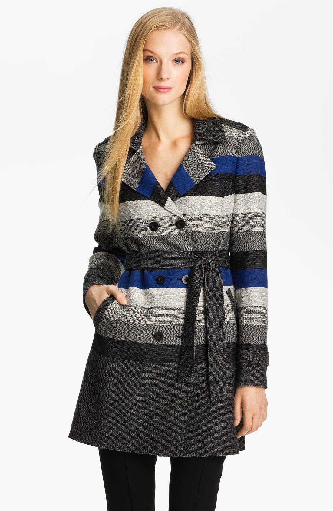 Main Image - Classiques Entier® 'Art Stripe' Trench Coat