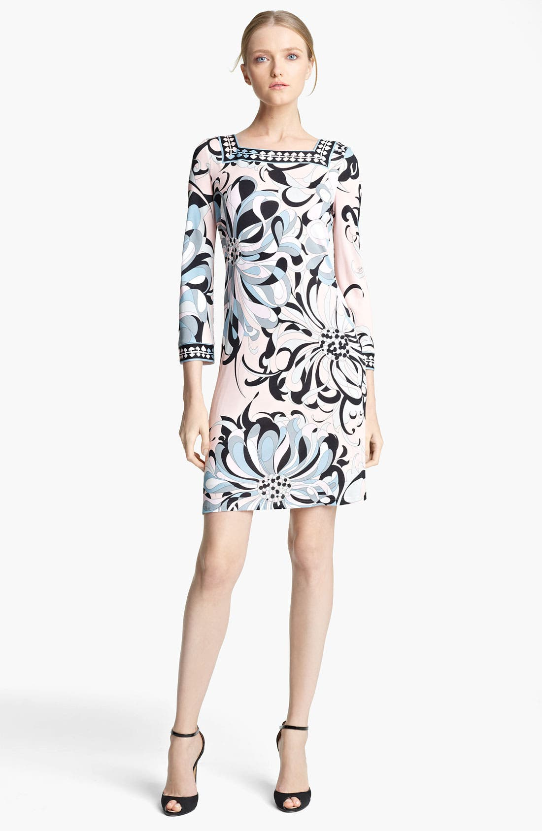 Alternate Image 1 Selected - Emilio Pucci Floral Print Jersey Shift Dress