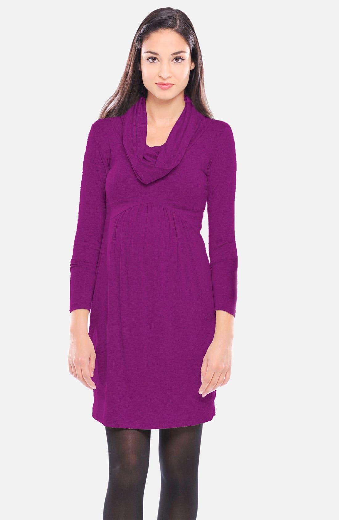 Main Image - Olian V-Neck Maternity Dress