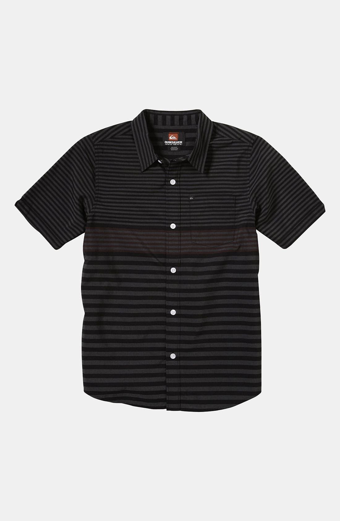 Main Image - Quiksilver 'Moving Seats' Woven Shirt (Big Boys)