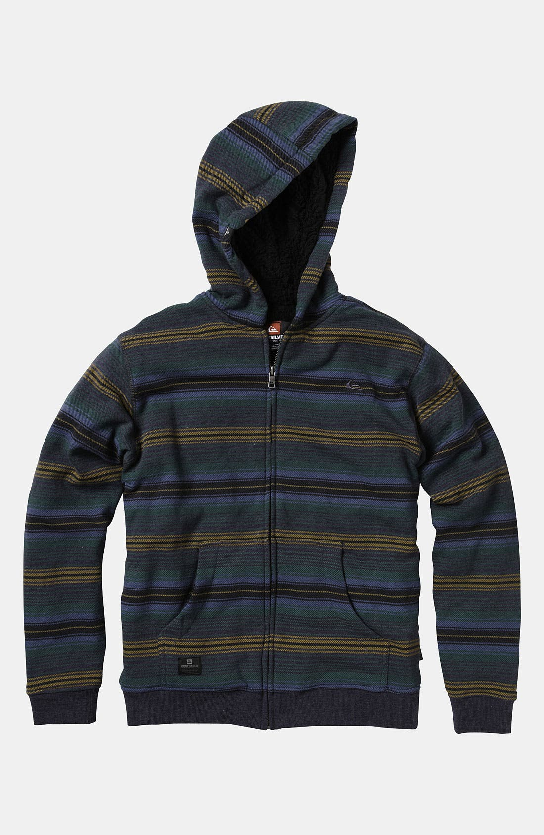 Alternate Image 1 Selected - Quiksilver 'Fisher' Zip Hoodie (Little Boys)