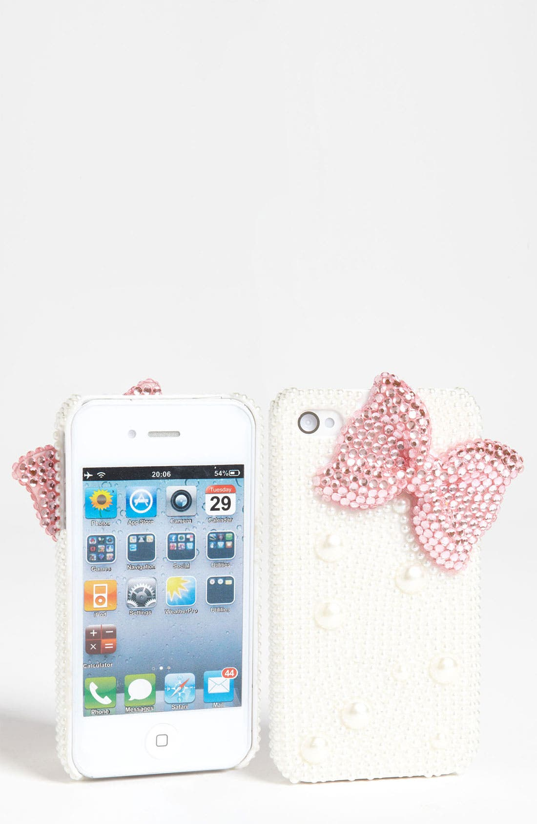 Alternate Image 1 Selected - Tricoastal Design Embellished Bow iPhone 4 & 4S Case