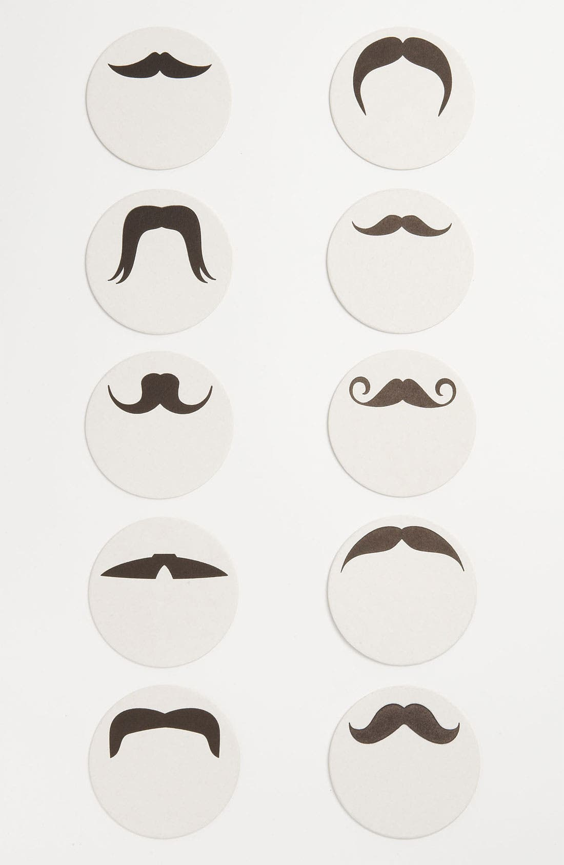 Main Image - 'Mustache' Letterpress Coasters (Set of 10)