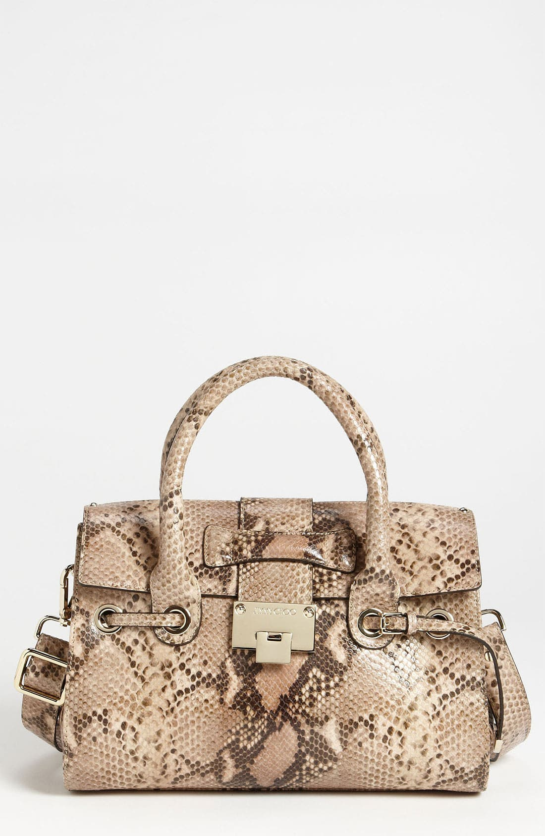 Main Image - Jimmy Choo 'Rosalie' Snake Embossed Leather Satchel