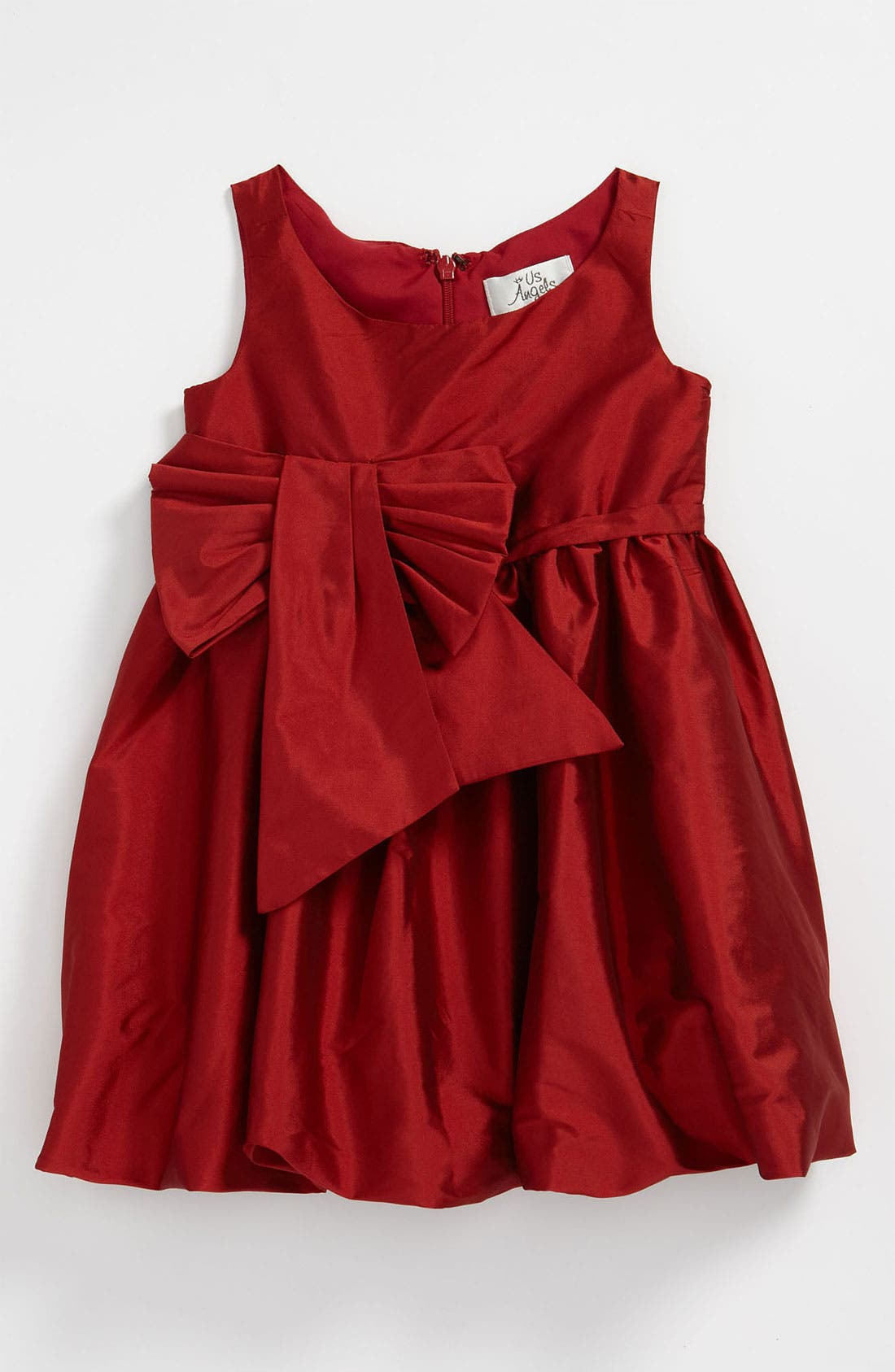 Alternate Image 1 Selected - Us Angels 'Bow' Bubble Dress (Toddler)