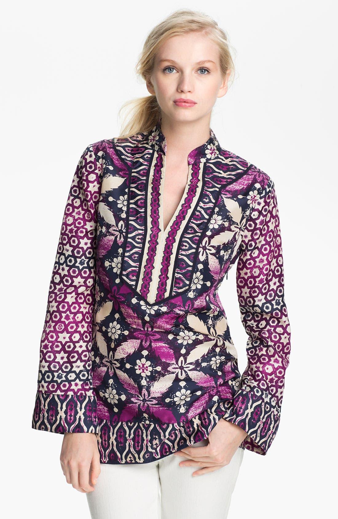 Main Image - Tory Burch 'Daria' Silk Tunic