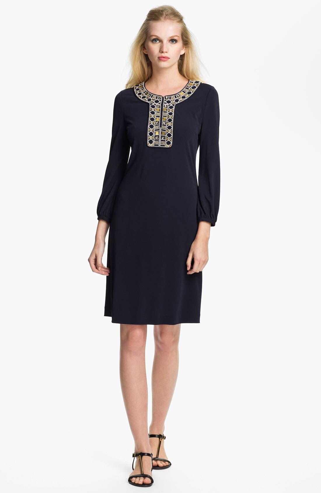 Main Image - Tory Burch 'Carissa' Embellished Sheath Dress