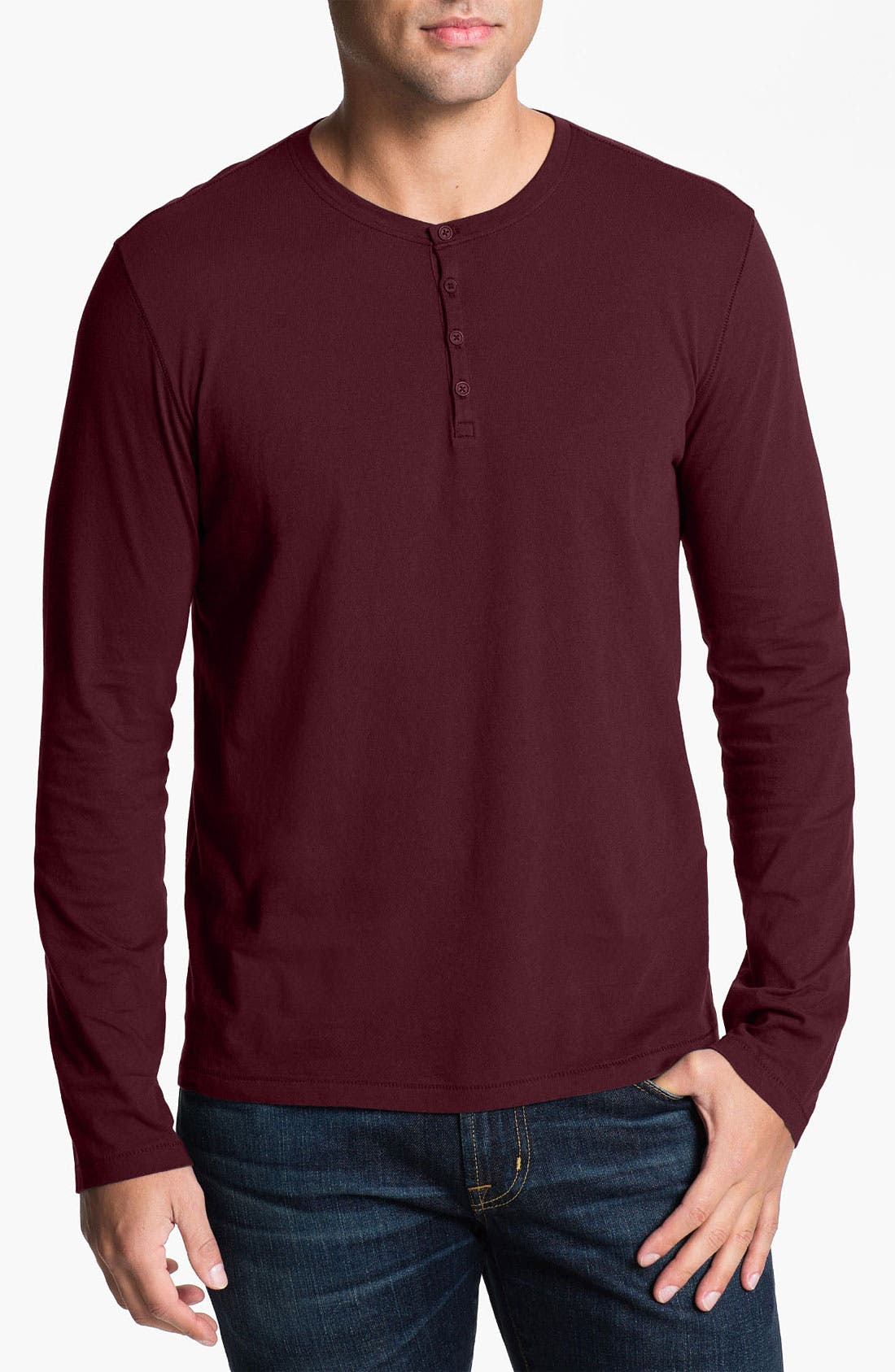 Main Image - John Varvatos Star USA Long Sleeve Henley T-Shirt