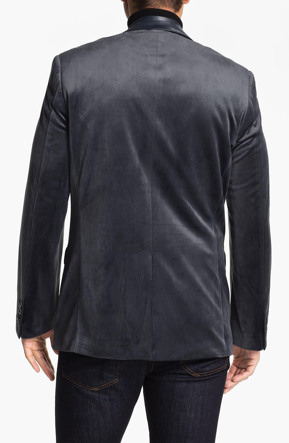 Alternate Image 2  - Natural Blue Velvet Sportcoat (Online Exclusive)