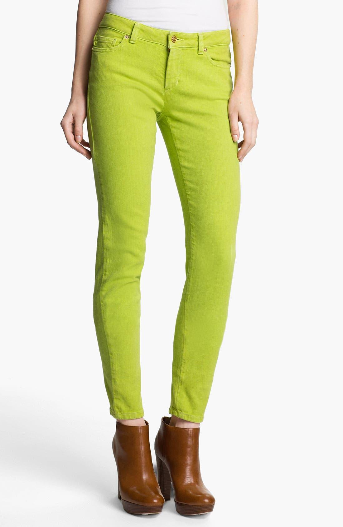Alternate Image 1 Selected - MICHAEL Michael Kors Color Skinny Jeans (Petite)