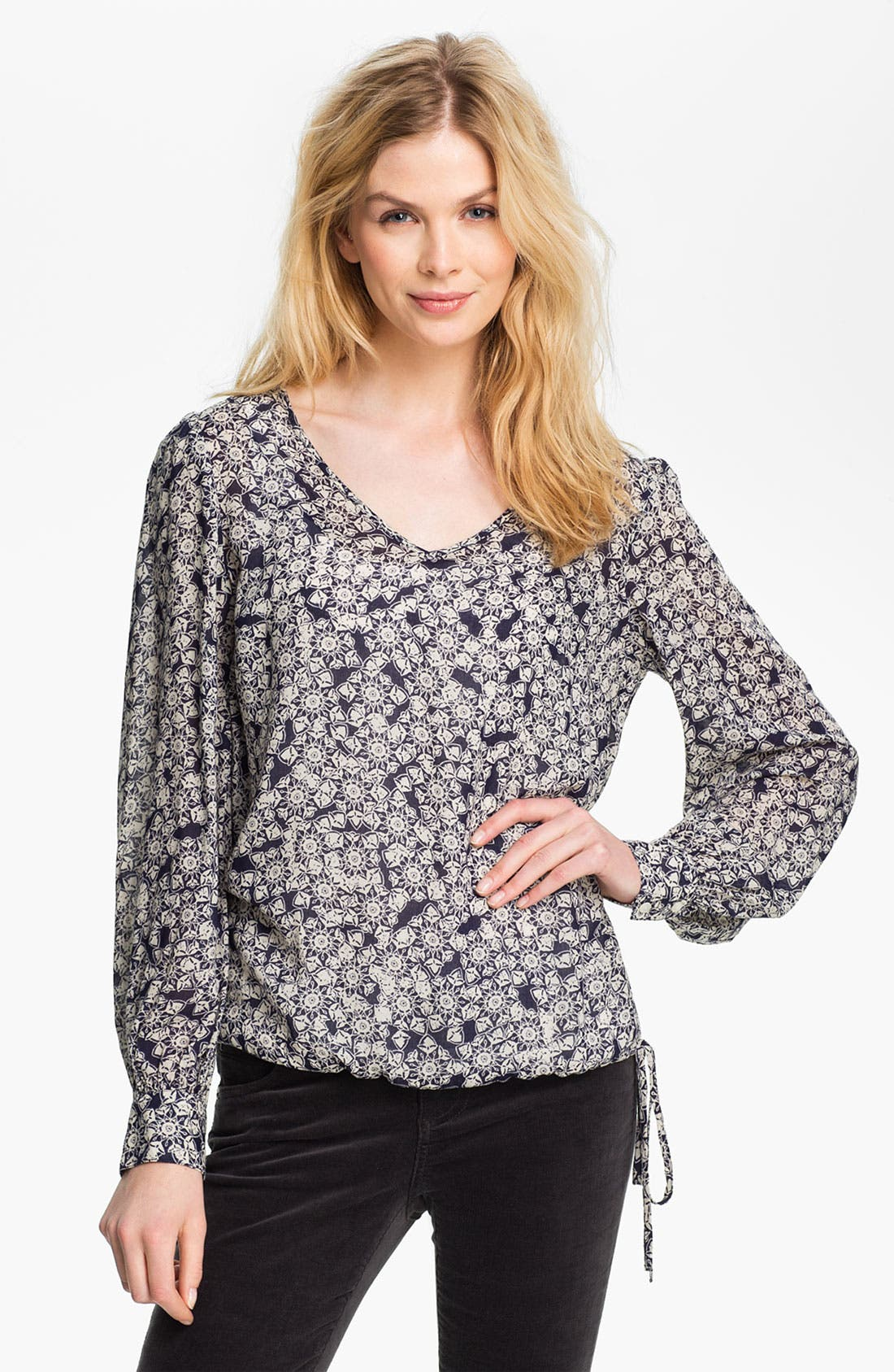 Alternate Image 1 Selected - Lucky Brand 'Farrah' Print Blouse