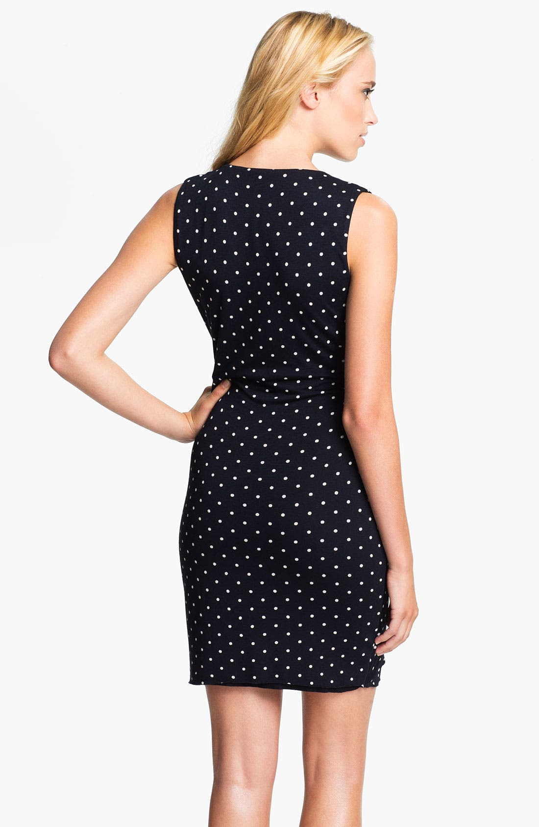Alternate Image 2  - Bailey 44 'Equestrian' Polka Dot Draped Dress