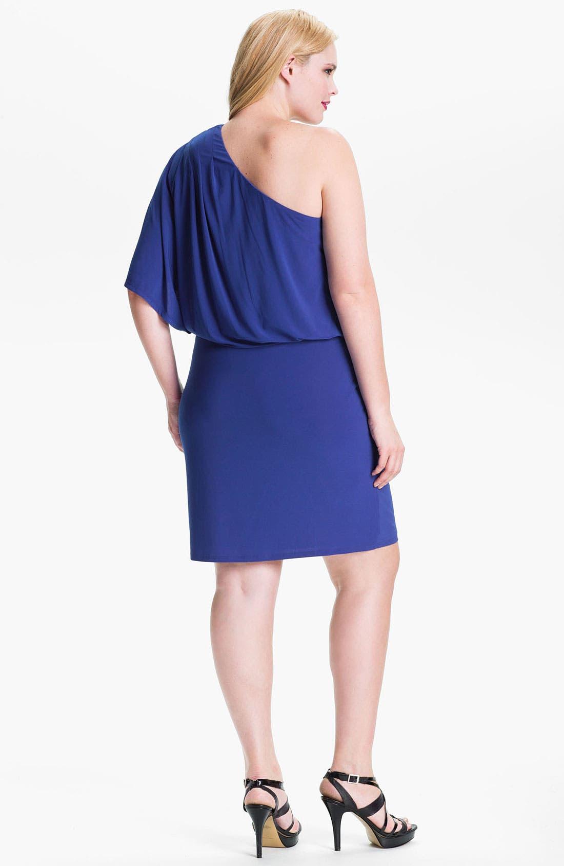 Alternate Image 2  - Jessica Simpson One Shoulder Matte Jersey Dress (Plus)