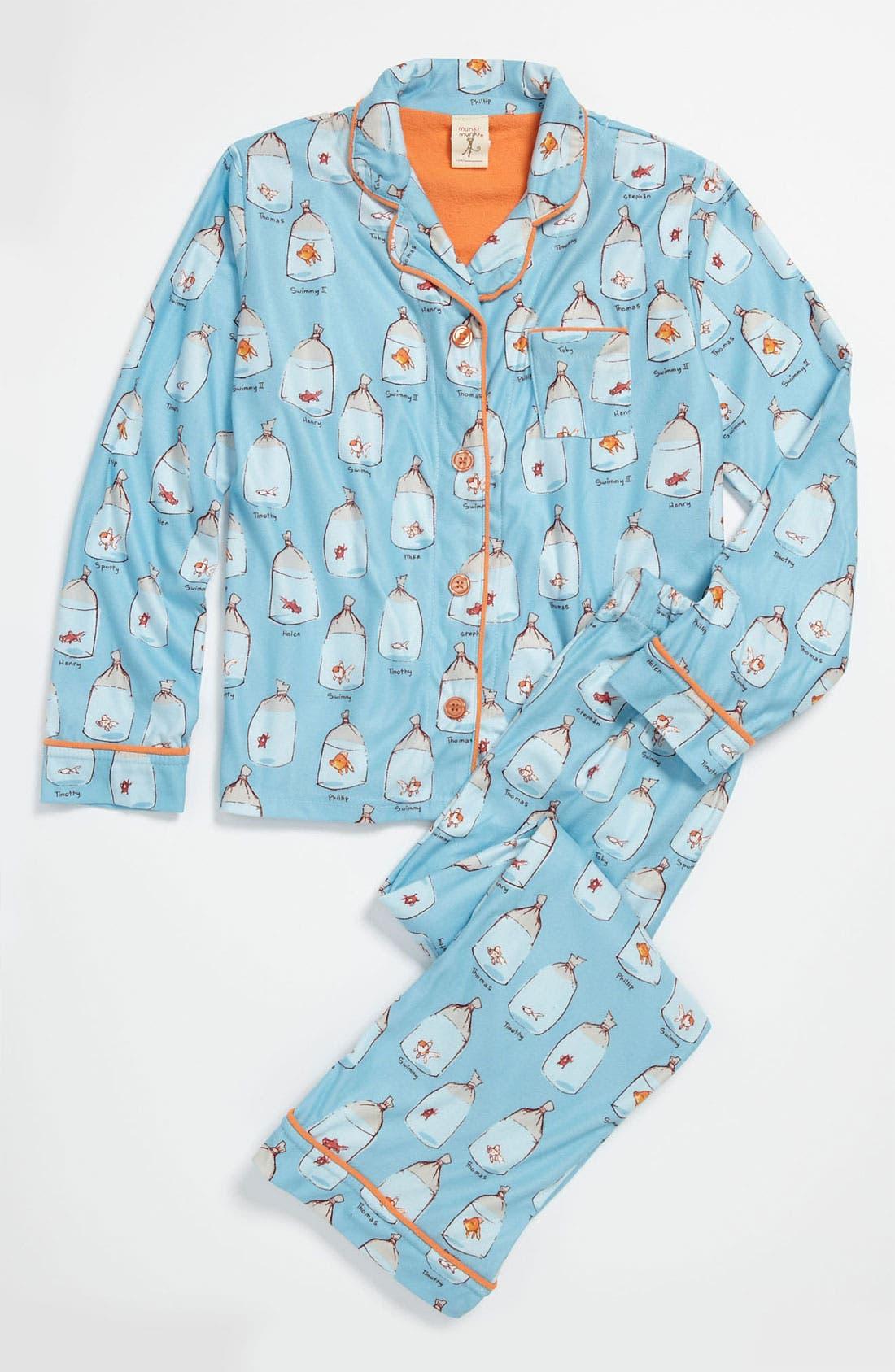 Alternate Image 1 Selected - Munki Munki Flannel Pajamas (Little Girls & Big Girls)