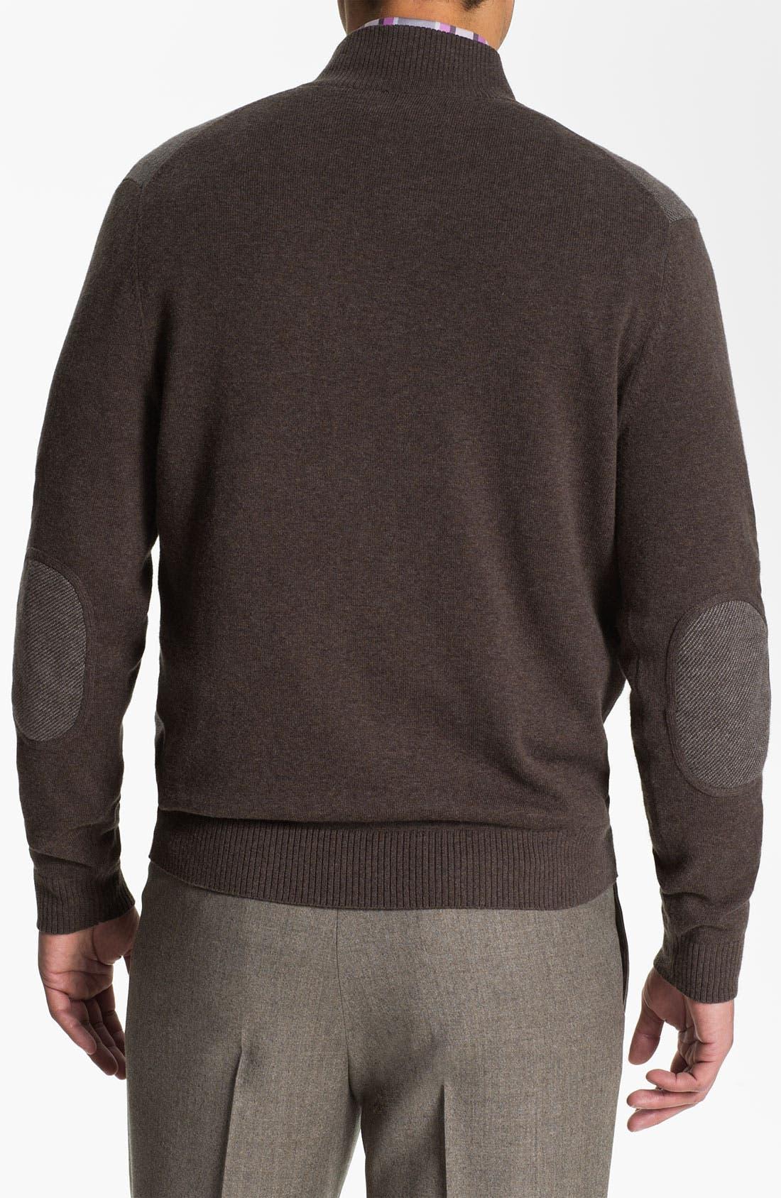 Alternate Image 3  - Robert Talbott Quarter Zip Cotton & Cashmere Sweater