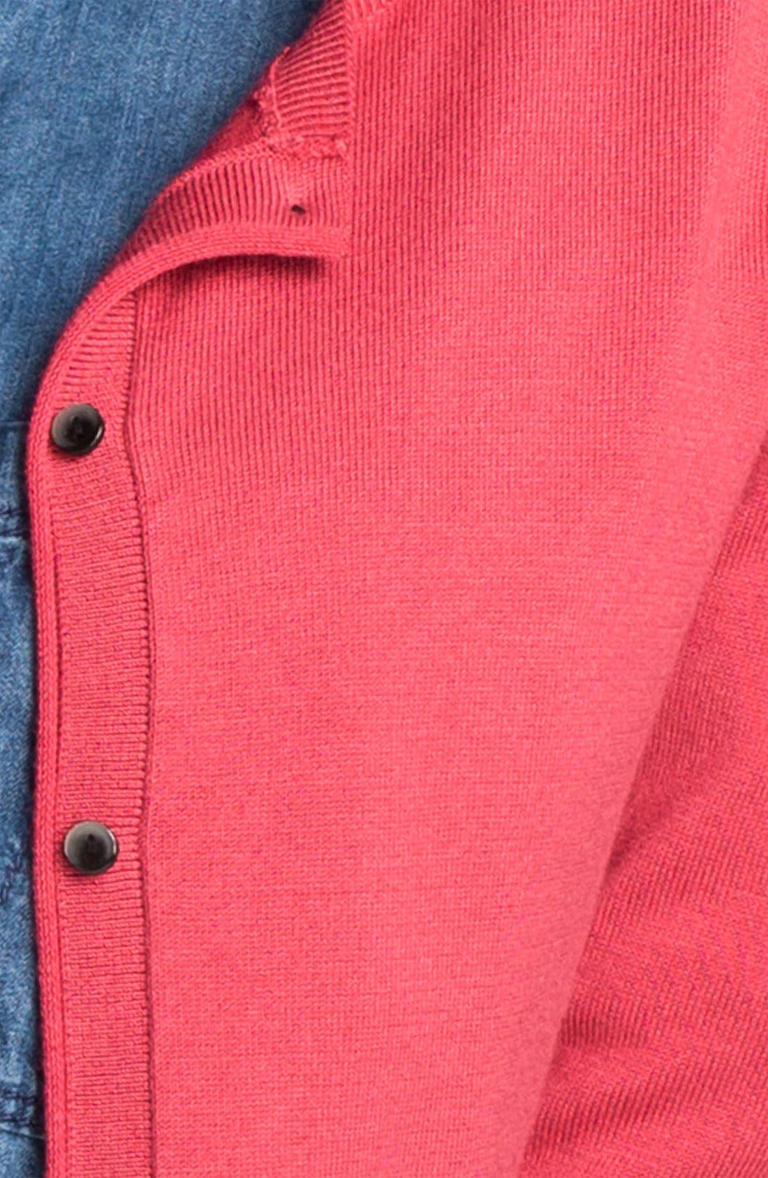 Alternate Image 3  - Halogen® Crewneck Cardigan