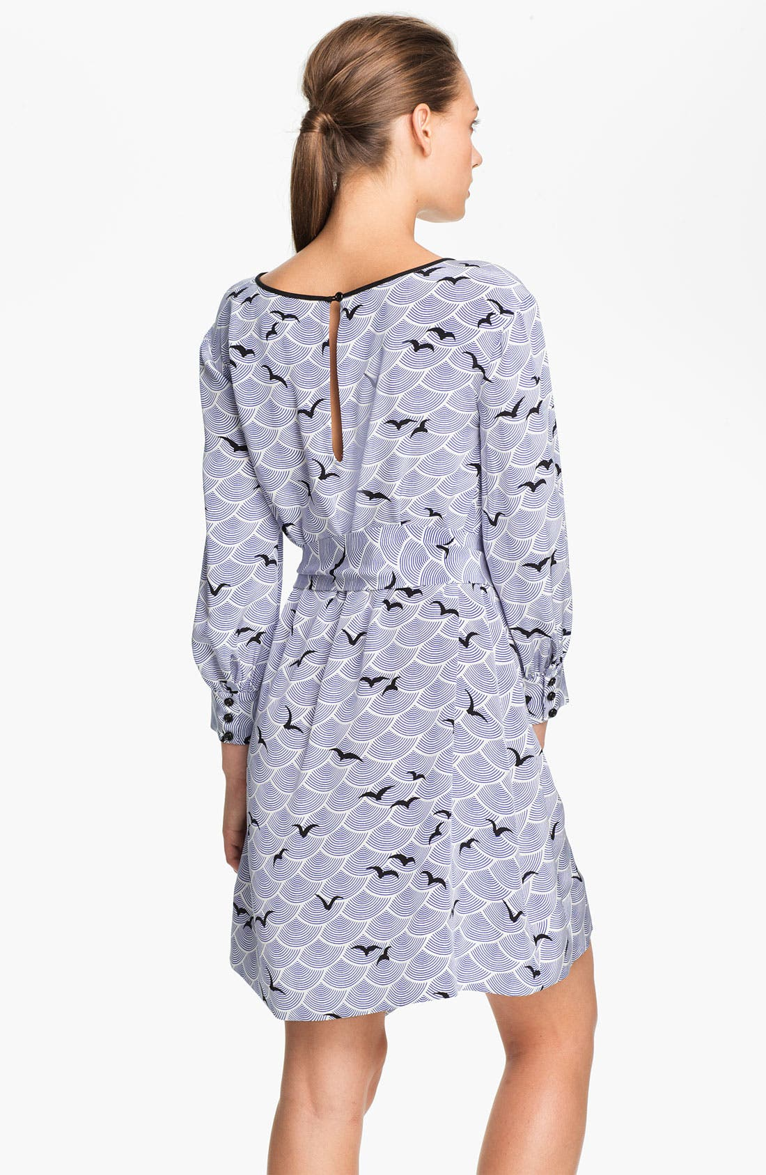 Alternate Image 2  - kate spade new york 'georgette' belted silk shift dress
