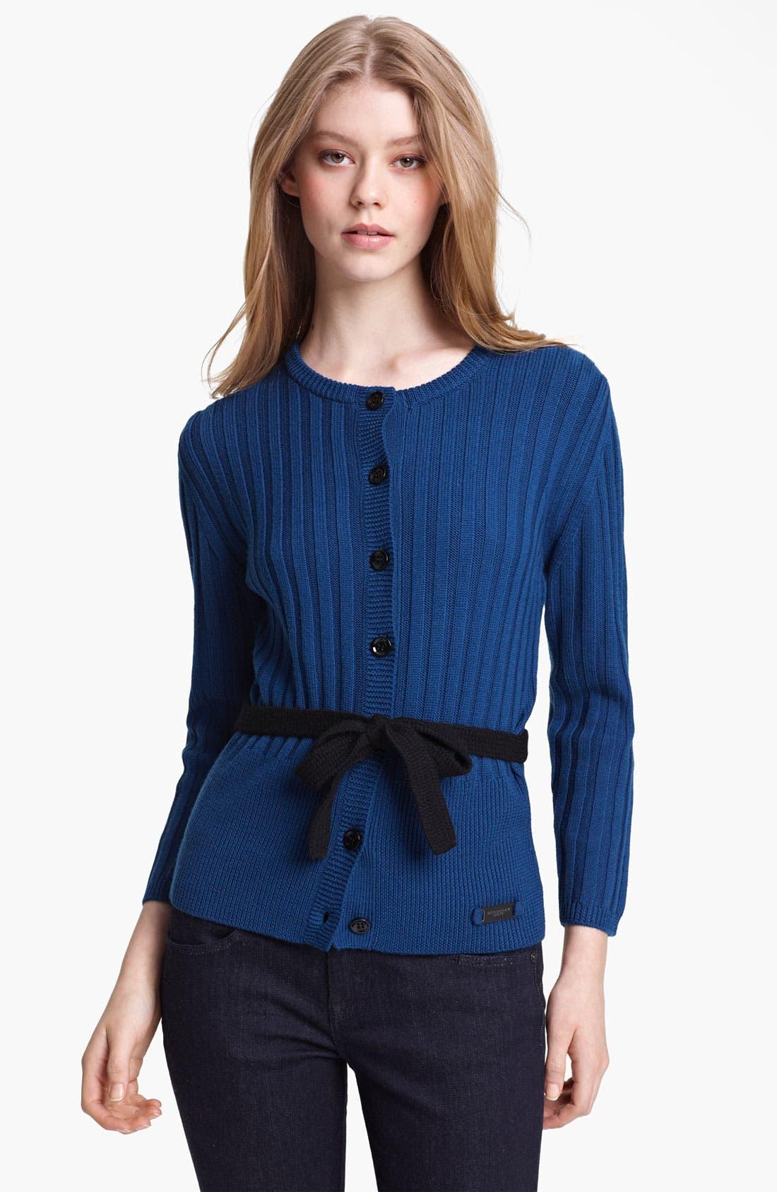 Main Image - Burberry Brit Knit Merino Wool Cardigan