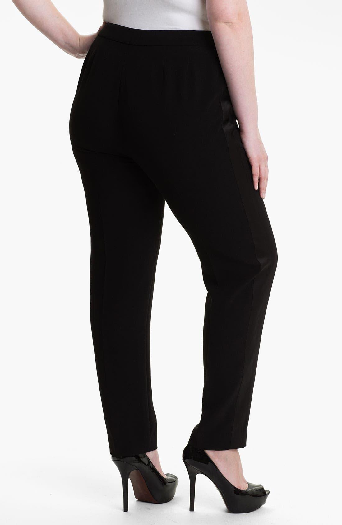 Alternate Image 2  - Sejour 'Ava' Tuxedo Pants (Plus)