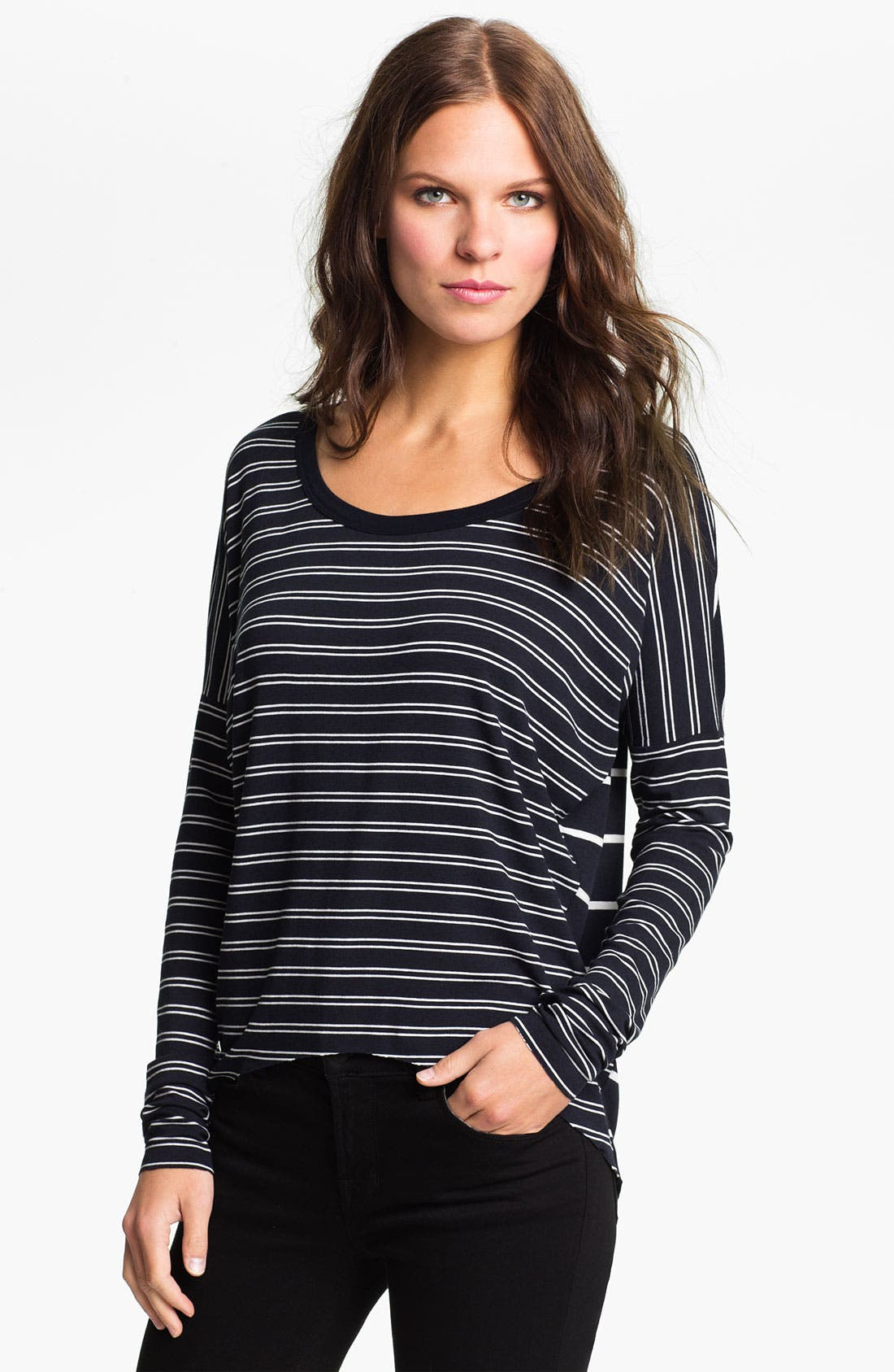 Alternate Image 1 Selected - Bailey 44 'Shot Put' Twin Stripe Relaxed Top