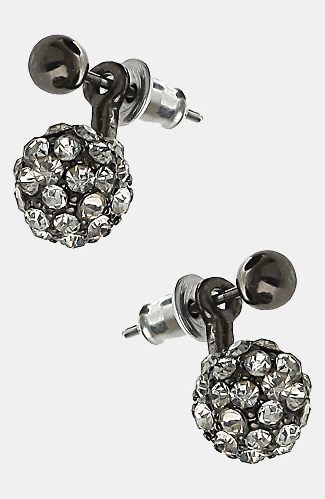 Alternate Image 1 Selected - Topshop 'Sparkle' Ball Earrings