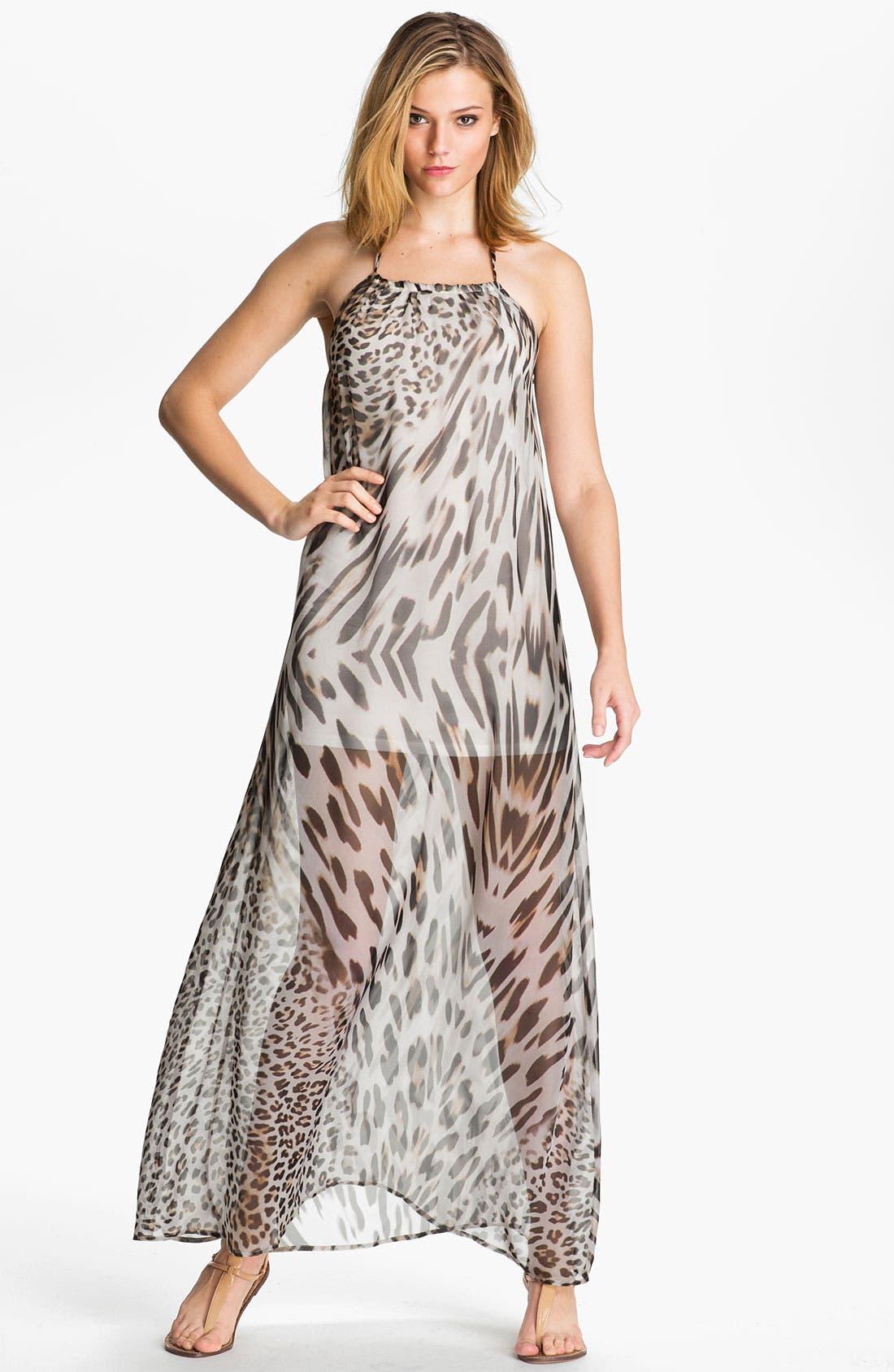 Alternate Image 1 Selected - Young, Fabulous & Broke 'Gila' Leopard Chiffon Maxi Dress