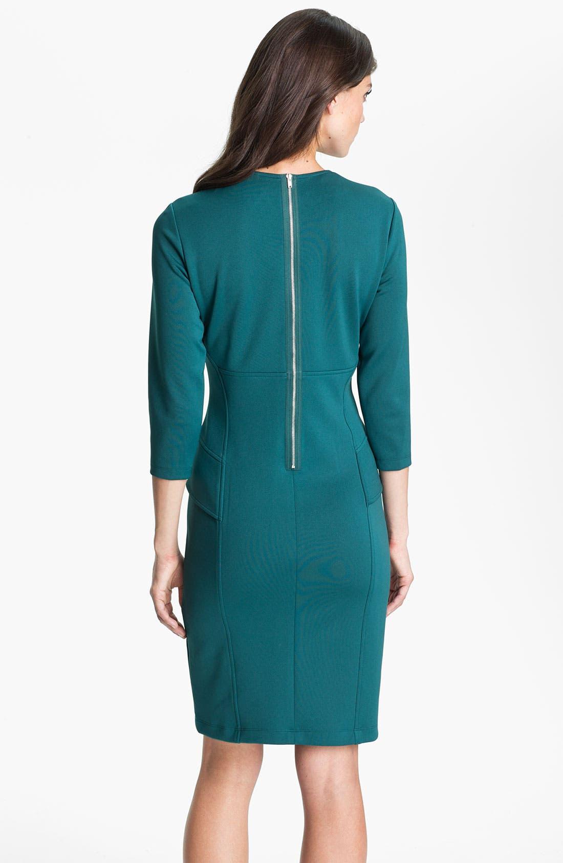 Alternate Image 2  - Maggy London Side Peplum Sheath Dress