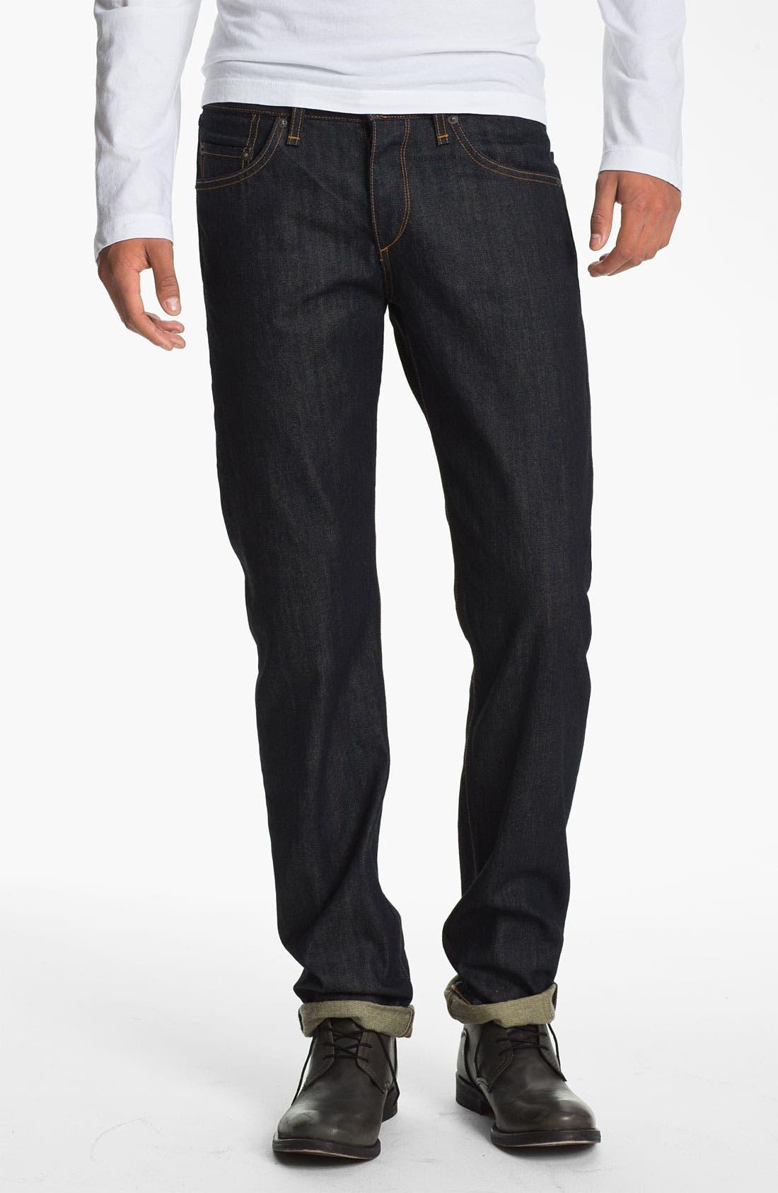Alternate Image 1 Selected - rag & bone 'RB19X' Slim Straight Leg Jeans (Olive Resin)