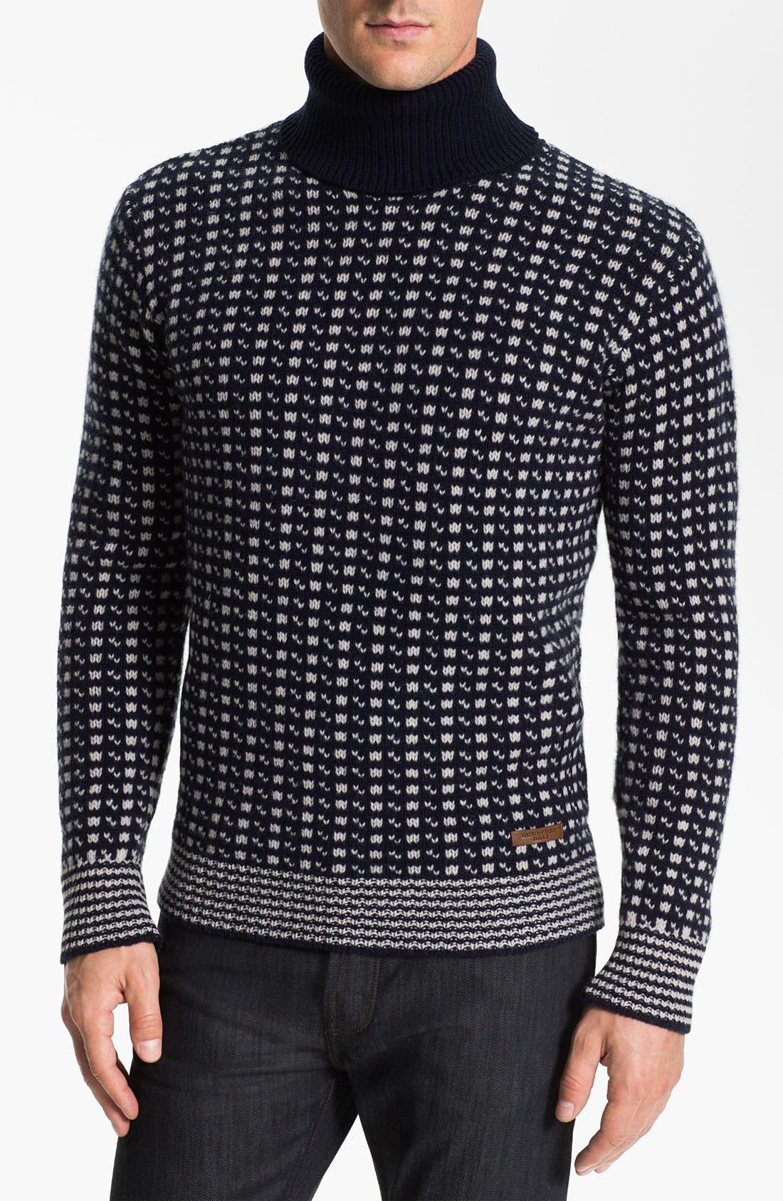Main Image - Burberry Brit Turtleneck Wool Sweater